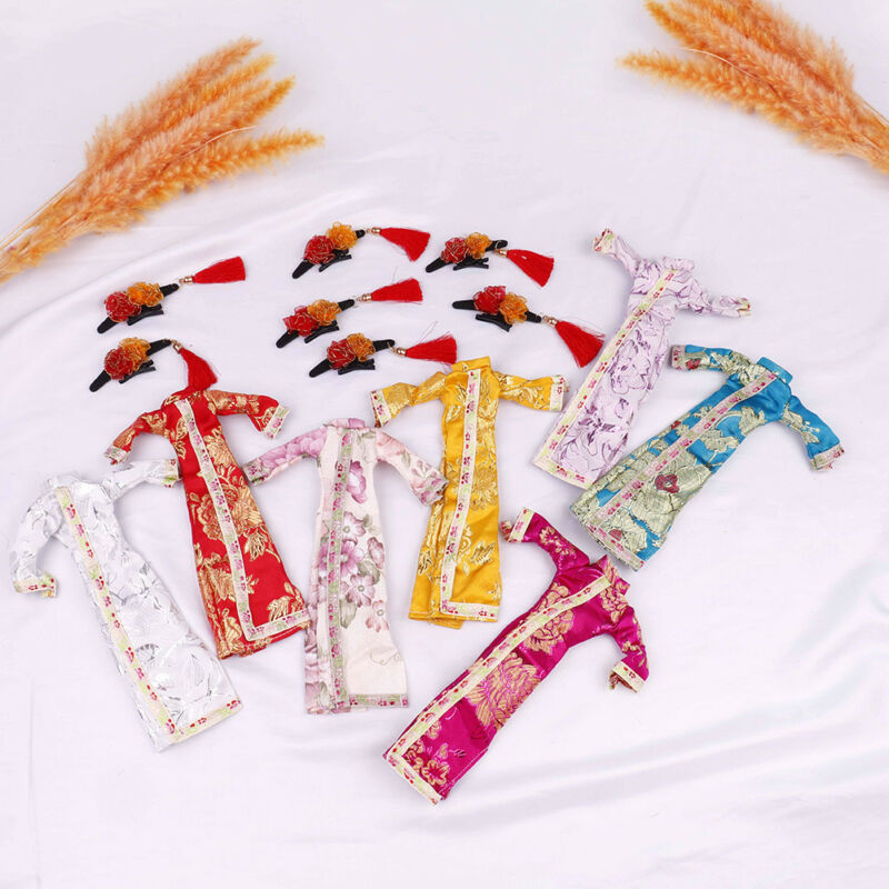 Doll handmade unique dress clothes for chinese traditional dress cheongsam  El 2