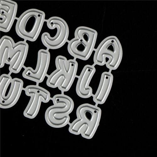 26Pcs Capital Letters Metal Cutting Dies For DIY Scrapbooking Album Paper Car KY 5