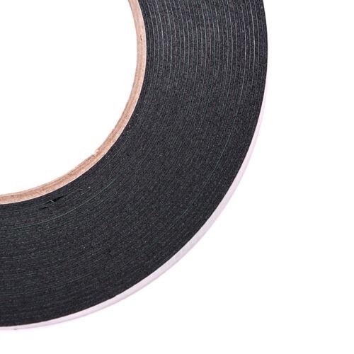 6-60mm * 10m fuerte adhesivo impermeable doble cara cinta de espuma negroH5 5