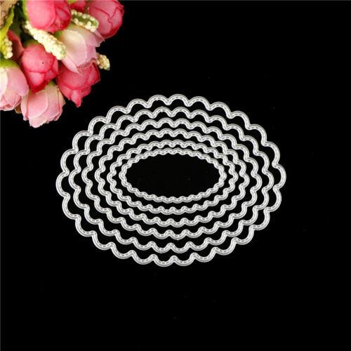 6pcs oval metal cutting dies stencil scrapbook album paper embossing craftCS 4