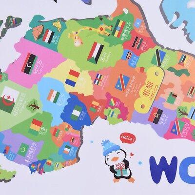 World Map Wall Decal Kids.Sticker Kids Nursery Room Home Decor Animals World Map Wall Decals