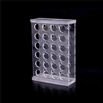 24 Holes Test Tube Rack Testing Tubes Holder Storage Plastic Lab Supplies LB 5