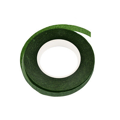 Durable Rolls Waterproof Green Florist Stem Elastic Tape Floral Flower 12mm PD 8