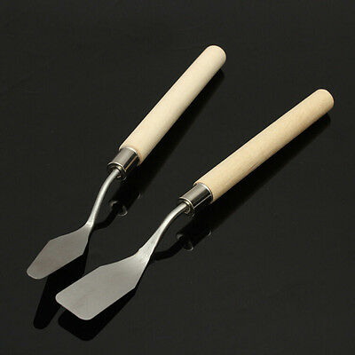 Wood Handle Metal  Palette Knife Spatula Oil Texture Painting Art Crafts Tool sa 4