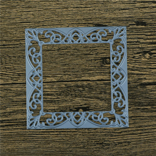 Square Hollow Lace Metal Cutting Dies For DIY Scrapbooking Album Paper Card XJ 5