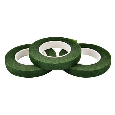 Durable Rolls Waterproof Green Florist Stem Elastic Tape Floral Flower 12mm PD 7