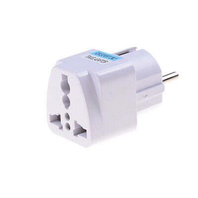 Universal to EU Adaptador de viaje de enchufe de corriente alterna Europa WhPDQ 2
