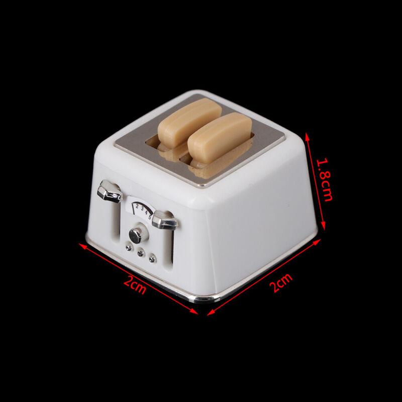 1/12 Scale dollhouse bread machine with toast miniature cute decor Toaster In KK 2