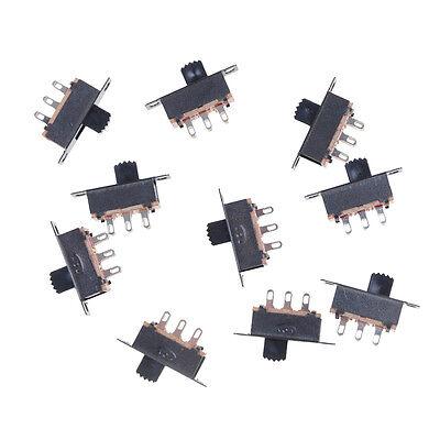 10X 2 Position DPDT 2P2T Schalttafeleinbau Schiebeschalter 6 Pin 0,5A 50 V DC—HQ 3