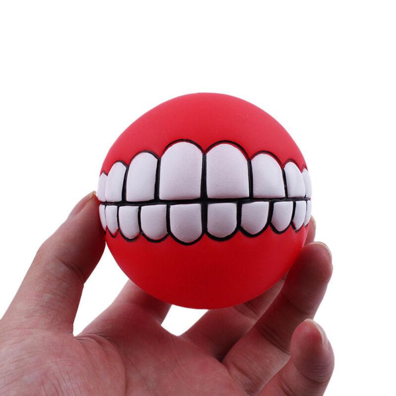 Puppy Pet Dog Colorful Dental Teething Healthy Teeth Chew Training Play Ball Toy 9