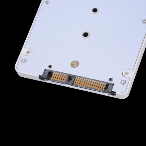 """M.2 NGFF Sata3 SSD to 2.5"""" SATA Adapter Card Hard Disk Case Enclosure WhiteRKES 3"""
