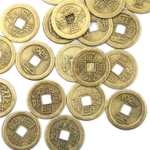 20pcs Feng Shui Coins 2.3cm Lucky Chinese Fortune Coin I Ching Money Alloy WD 7