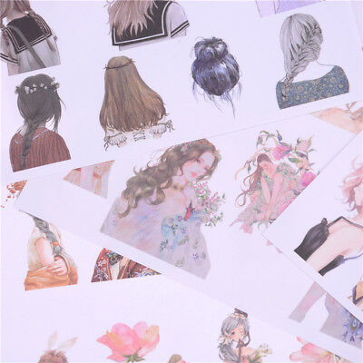 2Sheets Lovely Fashion Girls Diary Scrapbook Decoration DIY Stickers Toys Gif G4