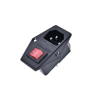 3Pin iec320 c14 inlet module plug fuse switch male power socket 10A 250V_Lq 4