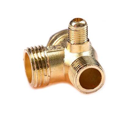 Compresor de aire 3Port latón macho roscado válvula de retención conector KY 2