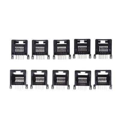 10Pcs Unshielded RJ11 RJ45 8P8C Network Modular PCB Connector Jacks Pop.\ TEUS