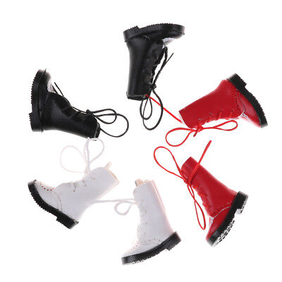 1Pair PU Leathers 1/8 Dolls Boots Shoes for BJD 1/6 Dolls Blythe Licca Jb DollsJ
