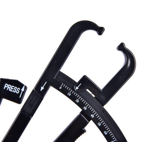 1X Keep Fitness Slim Measure Chart Body Fat Skinfold Tester Caliper Analyzer VGC 8