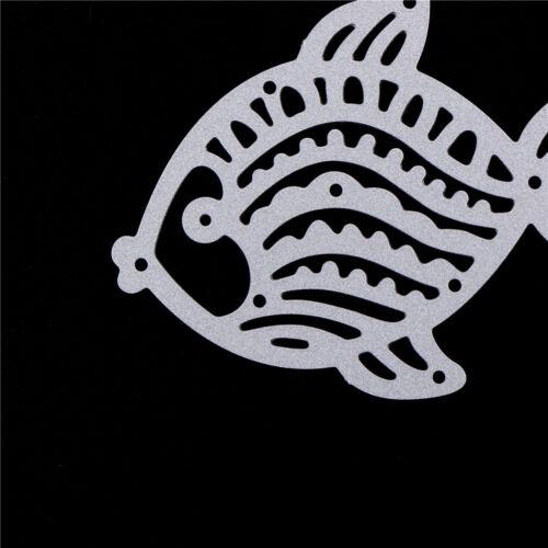 Cute Fish Metal Cutting Dies Stencils For Scrapbooking DIY Album Cards.Decor XM 5