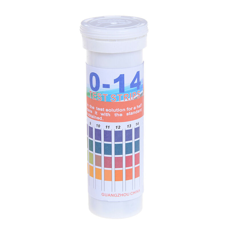 150 Strips bottled PH test strip 0-14 ph acidic alkaline indicator urine sal CH 5