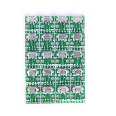 20X micro usb zu DIP 2,54mm adapter steckmodul platine panel 5 yi