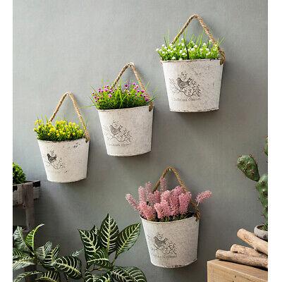 Garten Terrasse Pflanzkorbe Blumentopfe Kasten Eisenblech Blumentopf Halbrunde Wand Hangende Blumen Topf Blumen Behalter