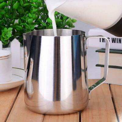 Stainless Steel Milk Frothing Jug Frother Coffee Latte Container Metal Pitcher 5