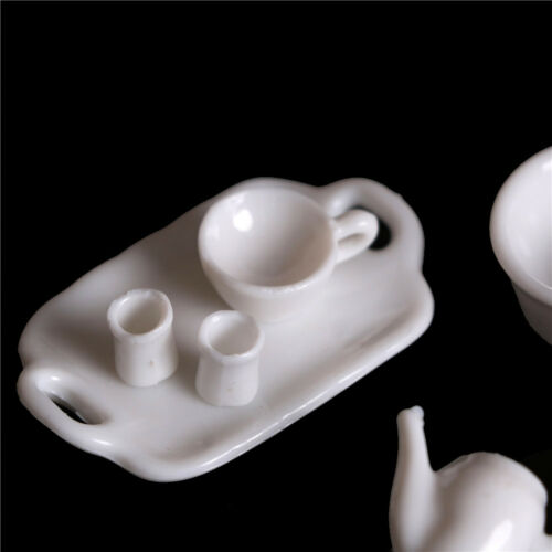 10pcs Dollhouse Miniature Dining Ware Tea Set Dish Cup Plate 3C 6