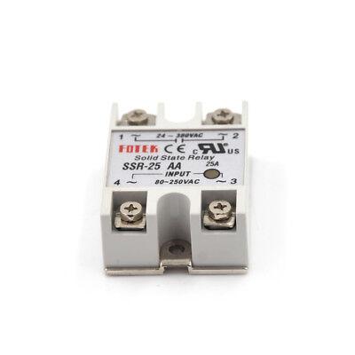 24V-380V 25A SSR-25AA Solid State Relay Module 80-250VAC AC-AC QP