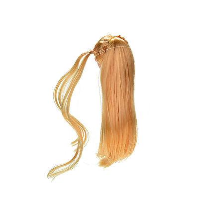 """Doll Head Golden Long Straight Hair for 11/"""" s DollSN"""