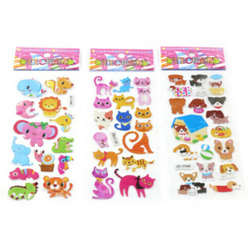 5sheets 3D Bubble Sticker Toys Children Kids Animal Classic Stickers Gift YEG 2