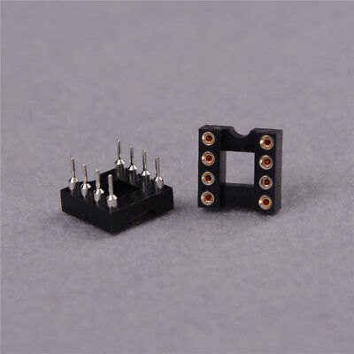 10pcs Round Hole 8pin Pitch 2.54mm DIP IC Sockets Adaptor Fad GS 5