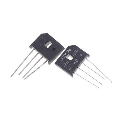 2PCS KBU1010 10A 1000V Single Phases Diode Bridge Rectifier Pop