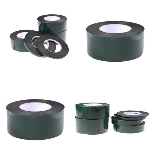 6-60mm * 10m fuerte adhesivo impermeable doble cara cinta de espuma negroH5 3