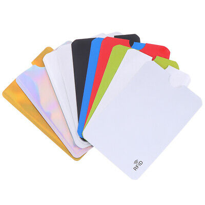10Pcs Credit Card Protector Secure Sleeve Rfid Blocking Id Holder Foil Shield KW 2