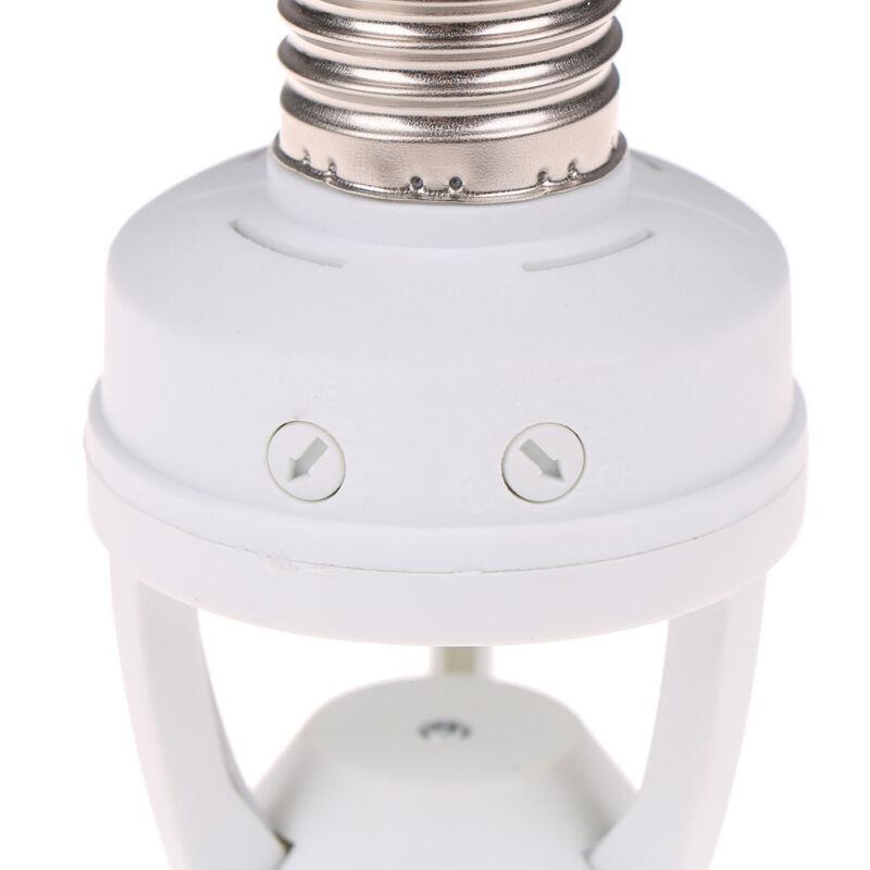 Infrared PIR Motion Sensor E27 LED Light Lamp Bulb Holder.Socket Switch BC 4