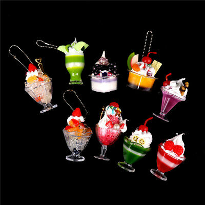 Dollhouse Mini Food Decor Cream Fruit Cup Ice cream cup Simulation Kid Toy  wn6