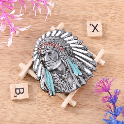 Indian Head Chief Retro Vintage Novelty Belt Buckle Xmas Gift Men Elegant VU