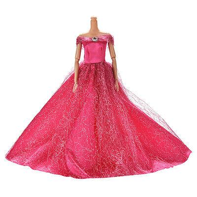 Robe de mariée pour poupée s belle jupe de fuite 7 couleurs hqFE