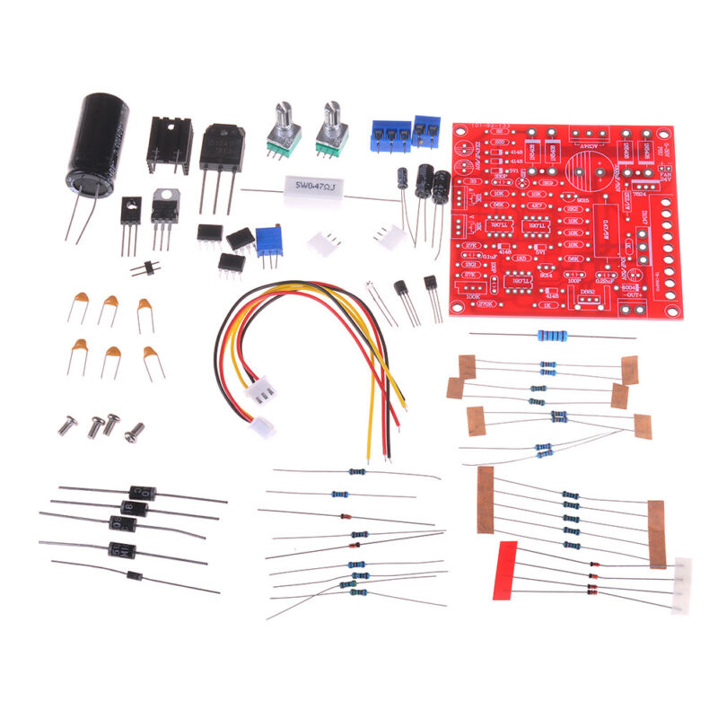 Red 0-30V 2mA-3A Continuously Adjustable DC Regulated Power Supply DIY Kit P 1Z7