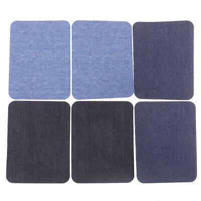 6X Assortiment De Réparation De Jeans En Coton 3Color Fer Sur Denim Patch CBGS 2