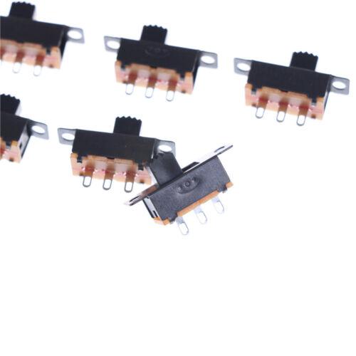 Black 20pcs 5V 0.3A SS12F32 Mini SPDT Slide Switch for Small DIY Power AD AS 5