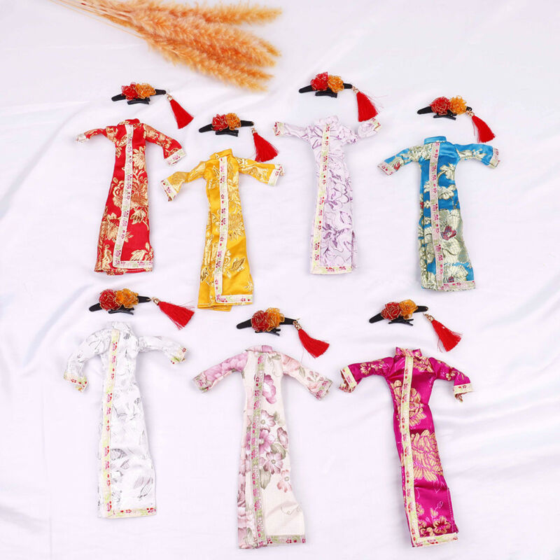 Doll handmade unique dress clothes for chinese traditional dress cheongsam  El 3