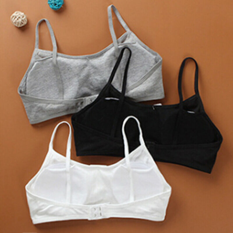 Teen girls underwear soft padded cotton bra young girls for yoga sports bra E&F 4