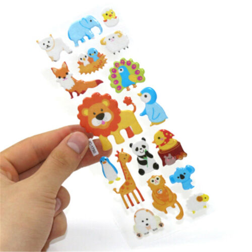 5sheets 3D Bubble Sticker Toys Children Kids Animal Classic Stickers Gift YEG 8
