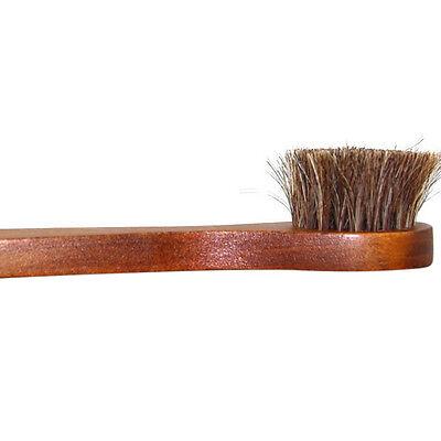 1Pc Wood handle bristle horse hair brush shoe boot polish shine cleaning dau ES
