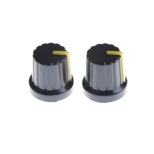 20x Red Indication 6mm Shaft Hole Knurled Grip Potentiometer Pot Knobs Caps Nice