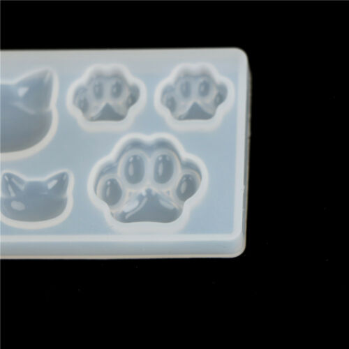 Resin Jewelry Mold Diy silicone crystal Cat face Cat/'s claw Moon Stars heart TOC