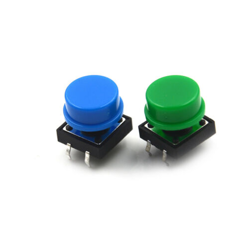 20Set Momentary Tactile Push Button Touch Micro Switch 4P PCB Caps12x12x7.3mm ~. 3