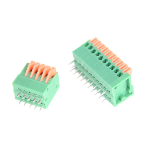 5pcs KF141R KF141V 2,54 mm connecteurs pas PCB Spring Screless bornier IU